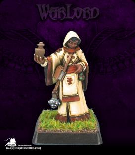 Warlord: Mercenaries - Olivia, Cleric/Priestess (painted by Anne Foerster)