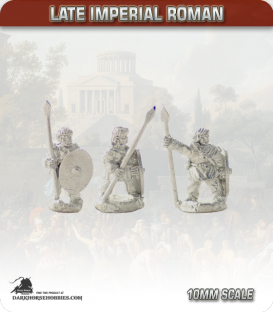 10mm Late Imperial: (Roman) Unarmoured Infantry with Spear - Standing