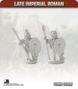 10mm Late Imperial: (Roman) Armoured Infantry with Spear - Standing
