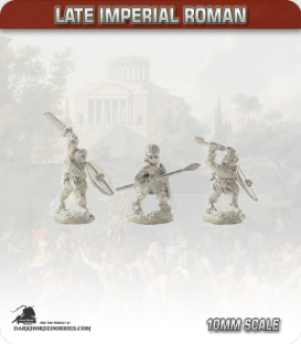 10mm Late Imperial: (Roman) Unarmoured Infantry with Mixed Weapons - Attacking