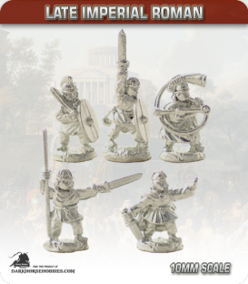 10mm Late Imperial: (Roman) Unarmoured Foot Command