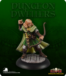 Dungeon Dwellers: Lanaerel Grayleaf, Elf Ranger (painted by Jennifer Greewald)