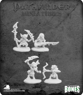 Pathfinder Bones Miniatures: Goblin Warriors Set