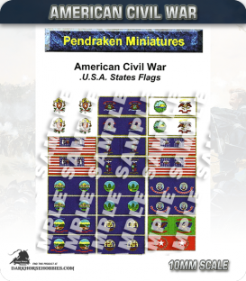 10mm American Civil War: US States Flags