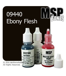Master Series Paint: Bones Colors - 09440 Ebony Flesh (1/2 oz)