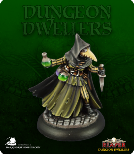 Dungeon Dwellers: Sister Hazel, Plague Doctor (painted by Jennifer Greenwald)