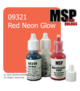 Master Series Paint: Core Colors - 09321 Red Neon Glow (1/2 oz)