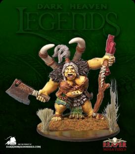 Dark Heaven Legends: Talanka, Ogre Shamanesse (painted by Sean Fulton)