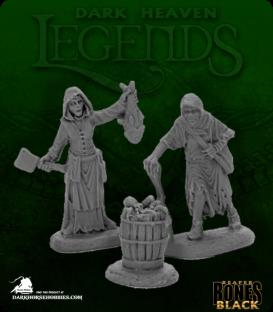 Dark Heaven Bones Black: Dreadmere Townsfolk: Fishwife and Crone
