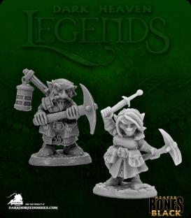 Dark Heaven Bones Black: Deep Gnome Heroes