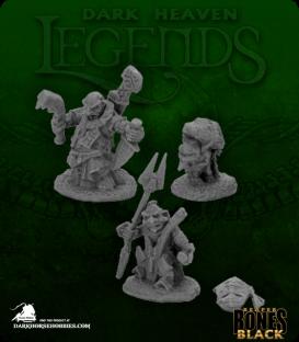 Dark Heaven Bones Black: Bloodstone Gnome Heroes