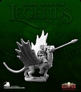 Dark Heaven Legends: Roderick Ambermeed and Glitter (Halfling on Dragon)
