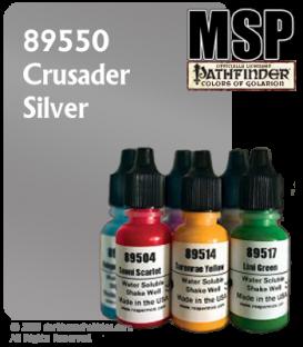Master Series Paint: Pathfinder Colors - 89550 Crusader Silver (1/2 oz)