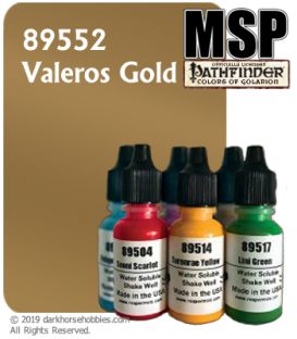 Master Series Paint: Pathfinder Colors - 89552 Valeros Gold (1/2 oz)