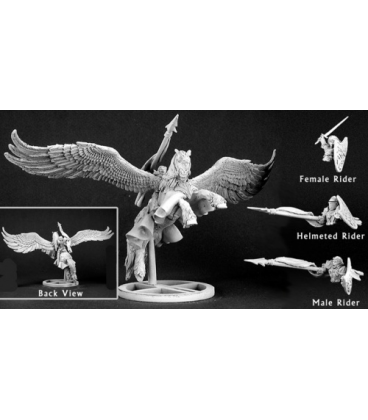 Warlord: Crusaders Barros & Tempest, Paladin on Pegasus (unpainted)