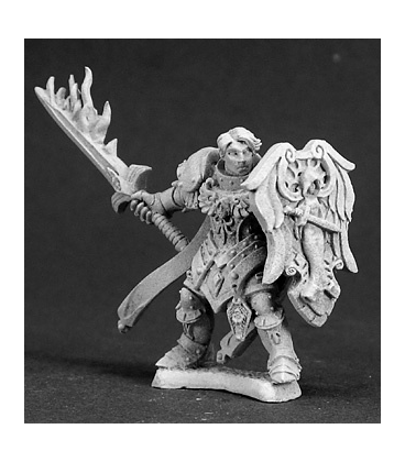 Warlord: Crusaders Almaran the Gold, Paladin With Flaming Sword (unpainted)