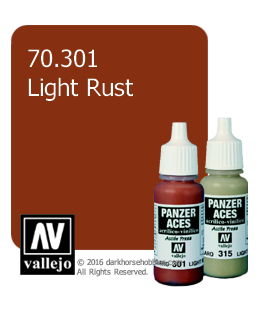 Vallejo Model Colors - Panzer Aces: Acrylic Paint - Light Rust (17ml)