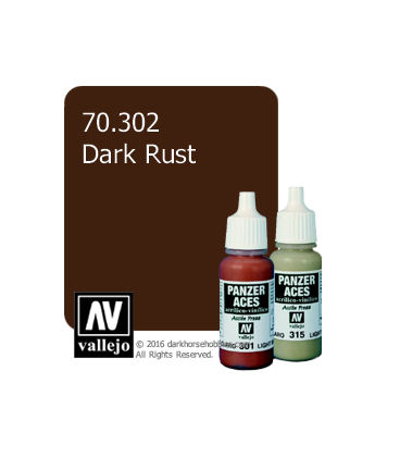 Vallejo Model Colors - Panzer Aces: Acrylic Paint - Dark Rust (17ml)