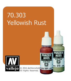 Vallejo Model Colors - Panzer Aces: Acrylic Paint - Yellowish Rust (17ml)