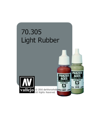 Vallejo Model Colors - Panzer Aces: Acrylic Paint - Light Rubber (17ml)
