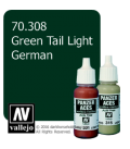 Vallejo Model Color: Panzer Aces - Green Tail Light German (17ml)