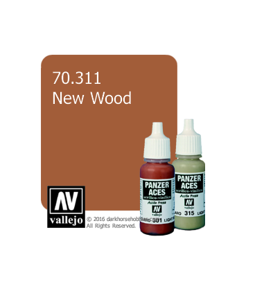 Vallejo Model Colors - Panzer Aces: Acrylic Paint - New Wood (17ml)