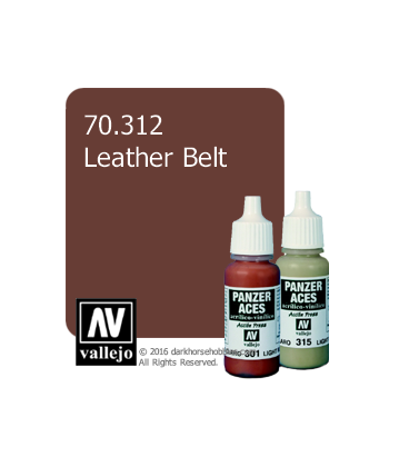 Vallejo Model Colors - Panzer Aces: Acrylic Paint - Leather Belt (17ml)