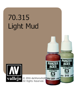Vallejo Model Colors - Panzer Aces: Acrylic Paint - Light Mud (17ml)