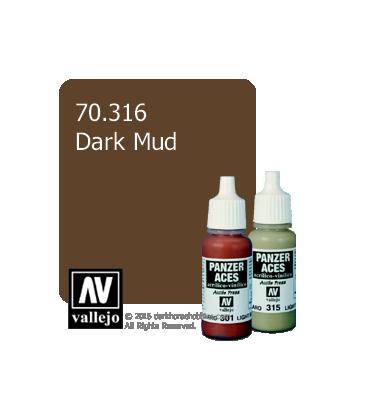 Vallejo Model Color: Panzer Aces - Dark Mud (17ml)