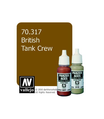 Vallejo Model Color: Panzer Aces - British Tank Crew (17ml)
