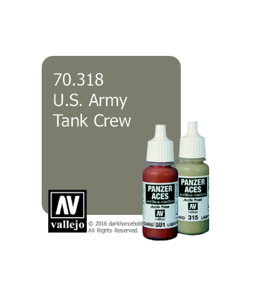 Vallejo Model Color: Panzer Aces - US. Army Tank Crew (17ml)