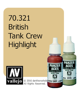 Vallejo Model Color: Panzer Aces - British Tank Crew Highlight (17ml)