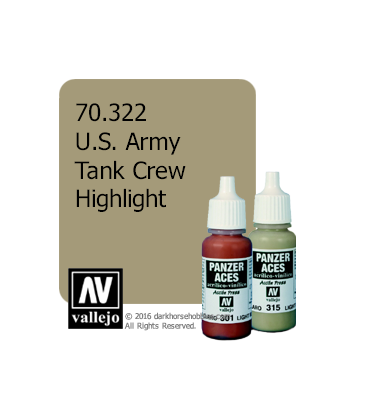 Vallejo Model Color: Panzer Aces - U.S. Army Tank Crew Highlight (17ml)
