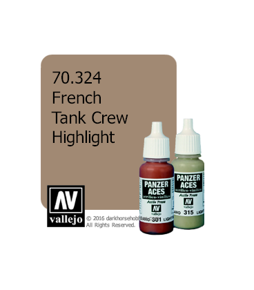Vallejo Model Color: Panzer Aces - French Tank Crew Highlight (17ml)