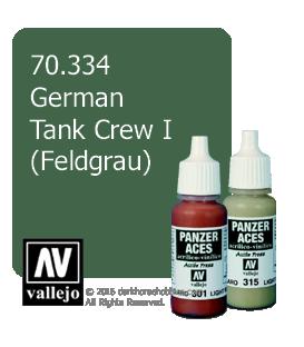 Vallejo Model Color: Panzer Aces - German Tank Crew I - Feldgrau (17ml)
