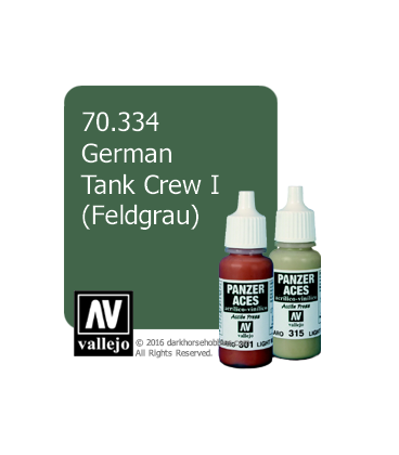 Vallejo Model Color: Panzer Aces - German Tank Crew I - Feldgrau (17ml)