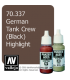 Vallejo Model Color: Panzer Aces - German Tank Crew - Black Highlight (17ml)