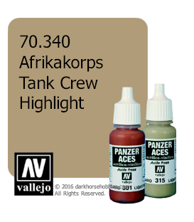 Vallejo Model Color: Panzer Aces - Afrikakorps Tank Crew Highlight (17ml)