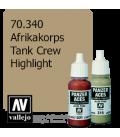 Vallejo Model Color: Panzer Aces - Afrikakorps Tank Crew Highlight (17ml)