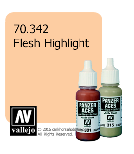 Vallejo Model Color: Panzer Aces - Flesh Highlight (17ml)