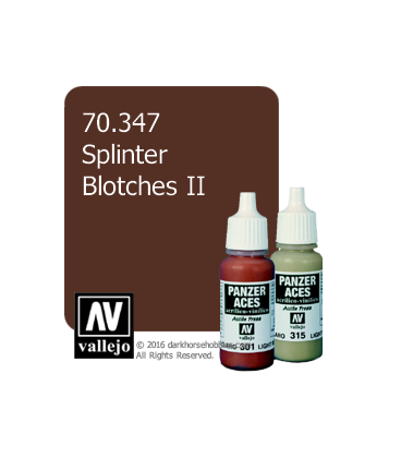 Vallejo Model Color: Panzer Aces - Splintar Blotches II (17ml)