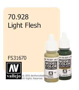 Vallejo Model Color: Light Flesh (17ml)