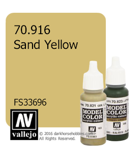 Vallejo Model Color: Sand Yellow (17ml)
