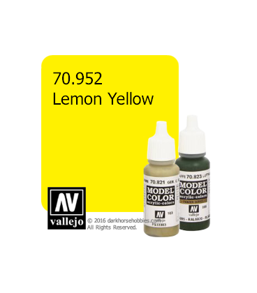 Vallejo Model Color: Lemon Yellow (17ml)