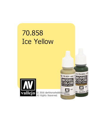 Vallejo Model Color: Ice Yellow (17ml)