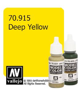 Vallejo Model Color: Deep Yellow (17ml)