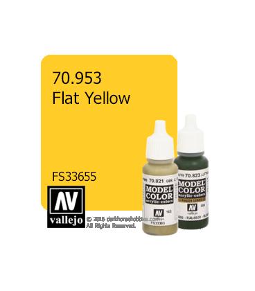 Vallejo Model Color: Flat Yellow (17ml)