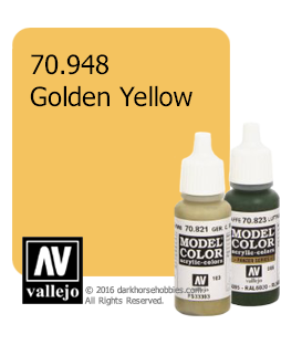 Vallejo Model Color: Golden Yellow (17ml)