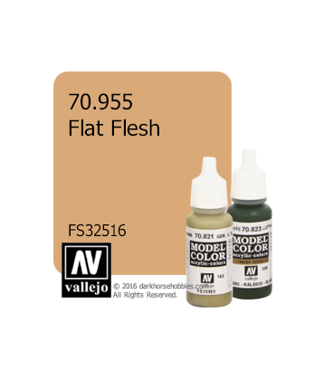 Vallejo Model Color: Flat Flesh (17ml)