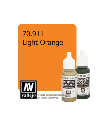 Vallejo Model Color: Light Orange (17ml)